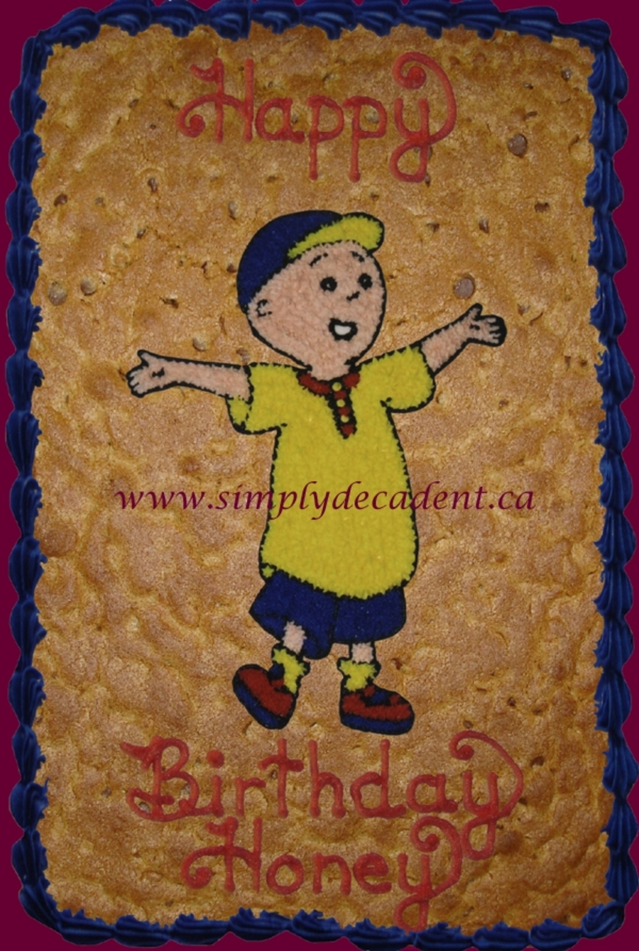 Caillou Cookie Gram on Cake Central