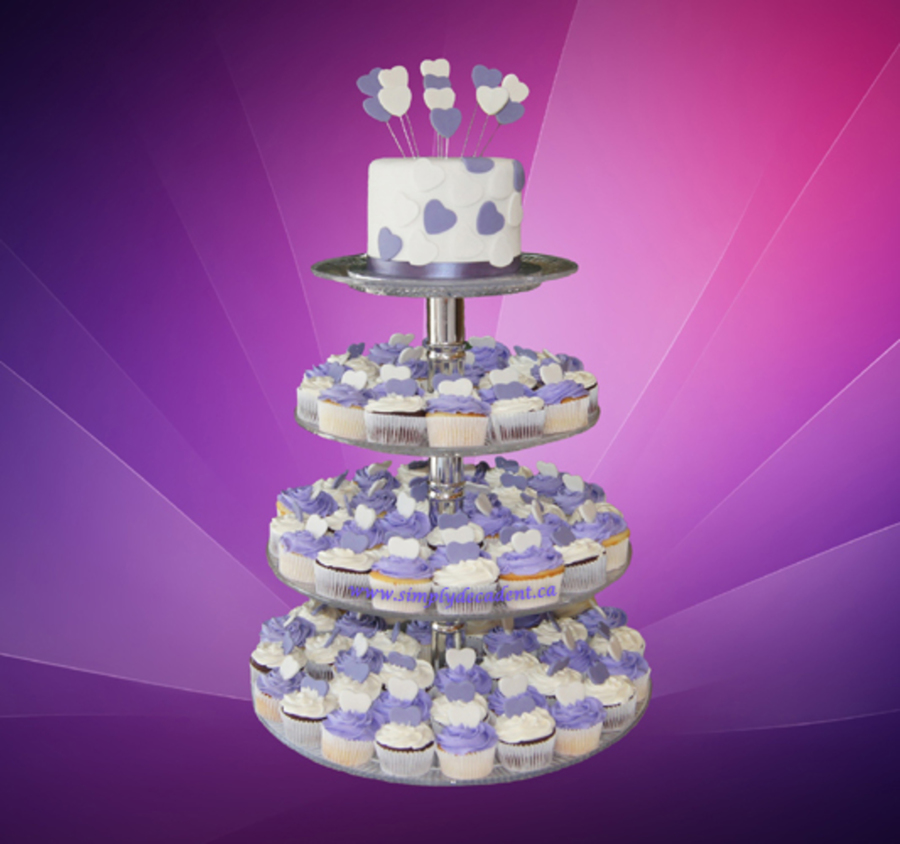 Purple Hearts Wedding Purple And White Butte...