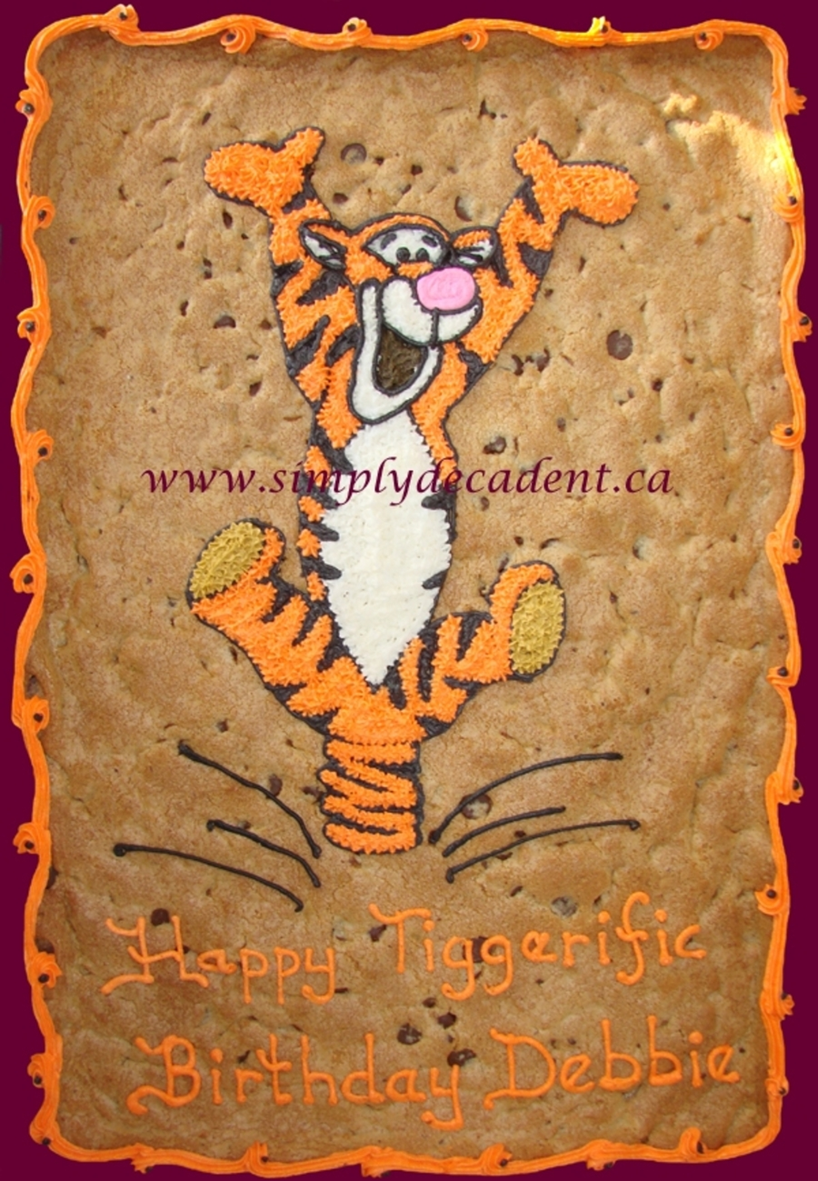 Tigger Cookie Gram on Cake Central