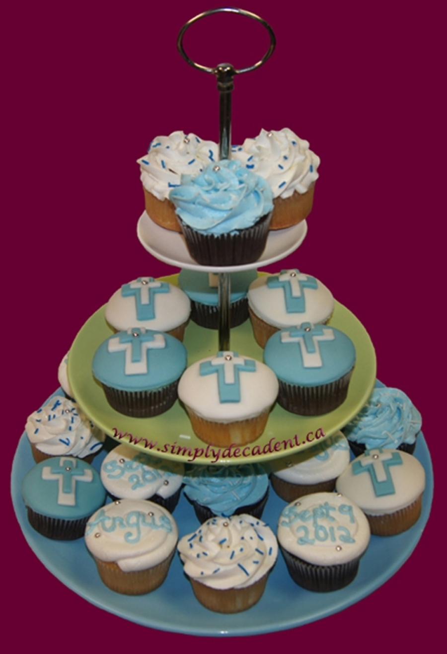 Baptism Cupcakes With Cross on Cake Central