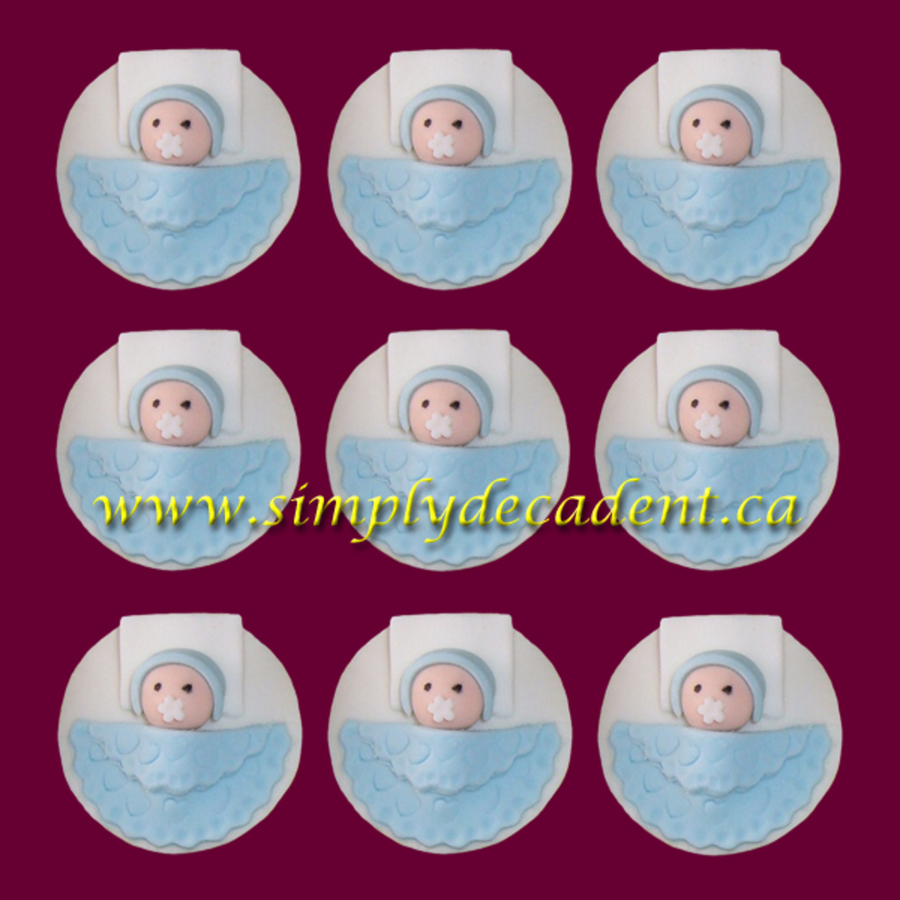 Baby With Blue Blanket Amp Pillow  on Cake Central