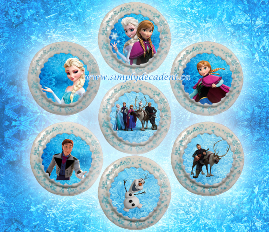 Disney Frozen Sugar Cookies With White Royal Icing And