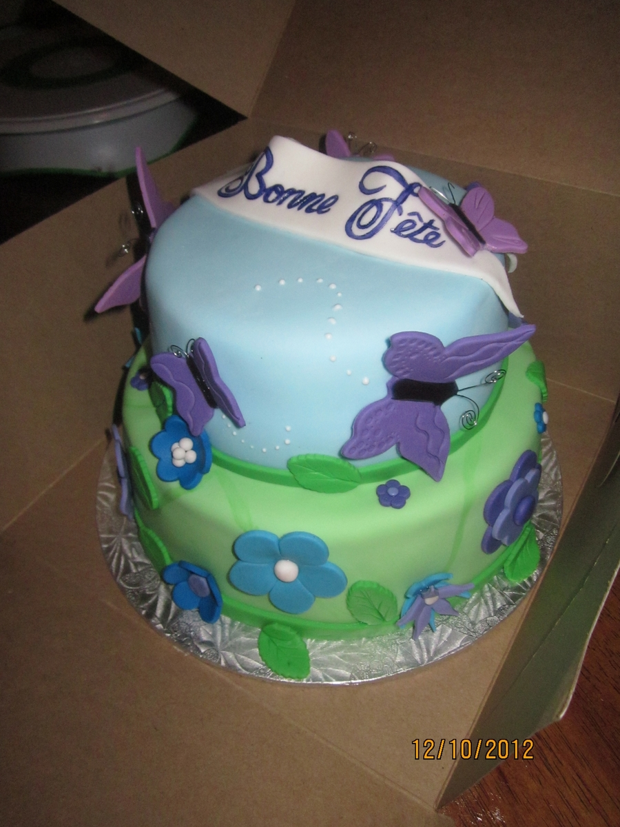 Flowers And Butterflies on Cake Central