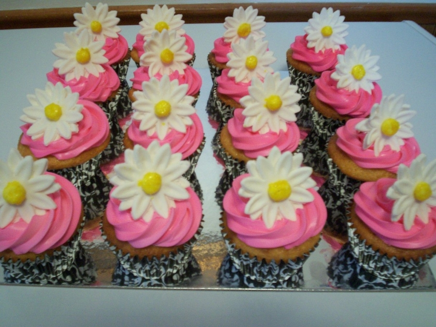 Daisy Cupcakes on Cake Central