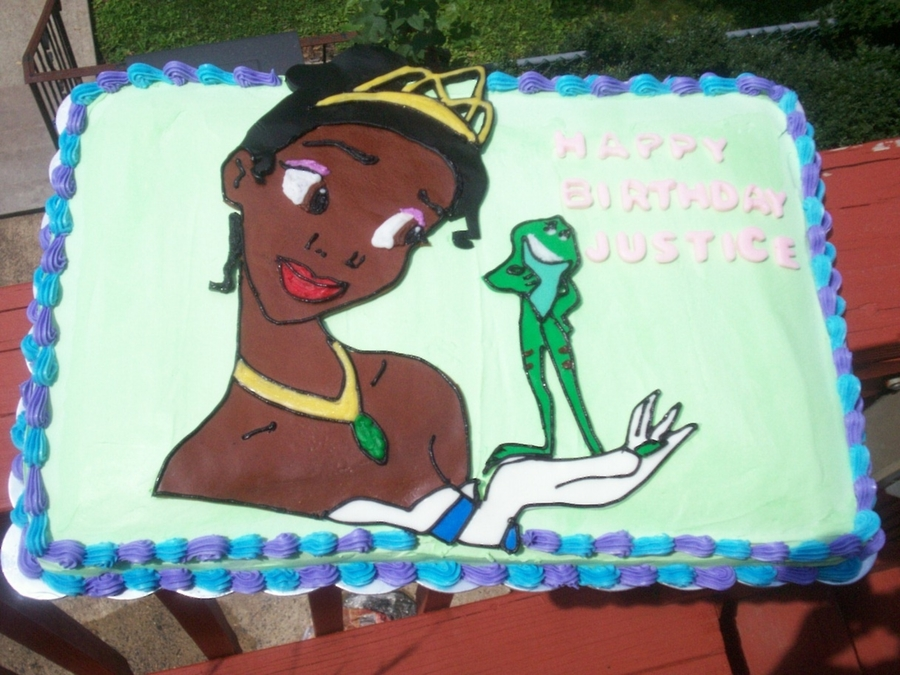 """just One Kiss""princess Tiana on Cake Central"