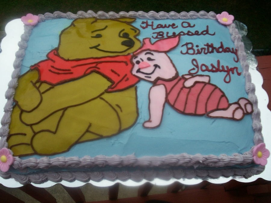 Winnie The Pooh And Piglet on Cake Central