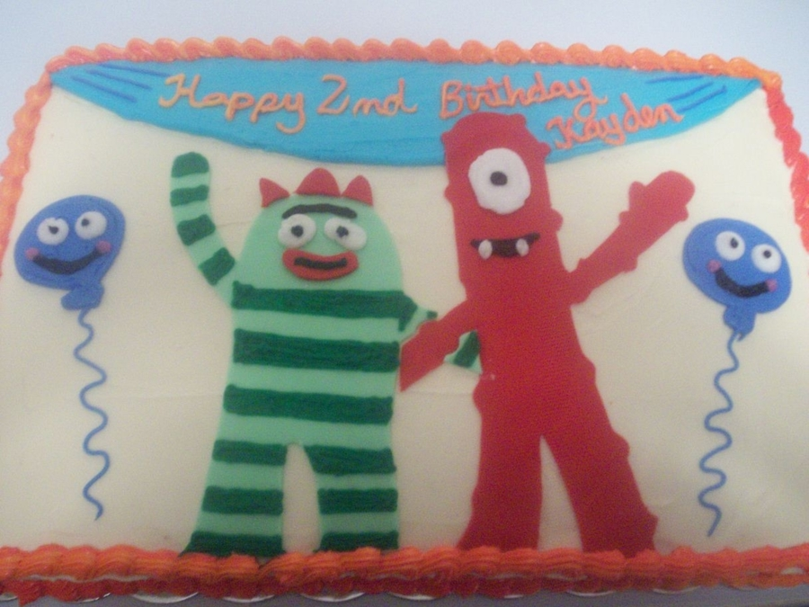 Brobie And Muno From Yo Gabba Gabba on Cake Central