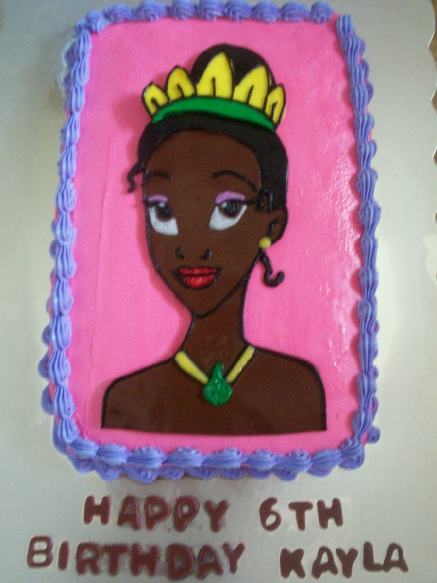 Princess Tiana Bust on Cake Central