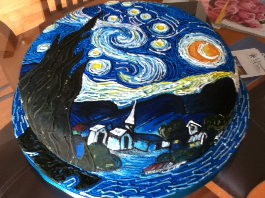 Van Gogh Stairy Nigh on Cake Central