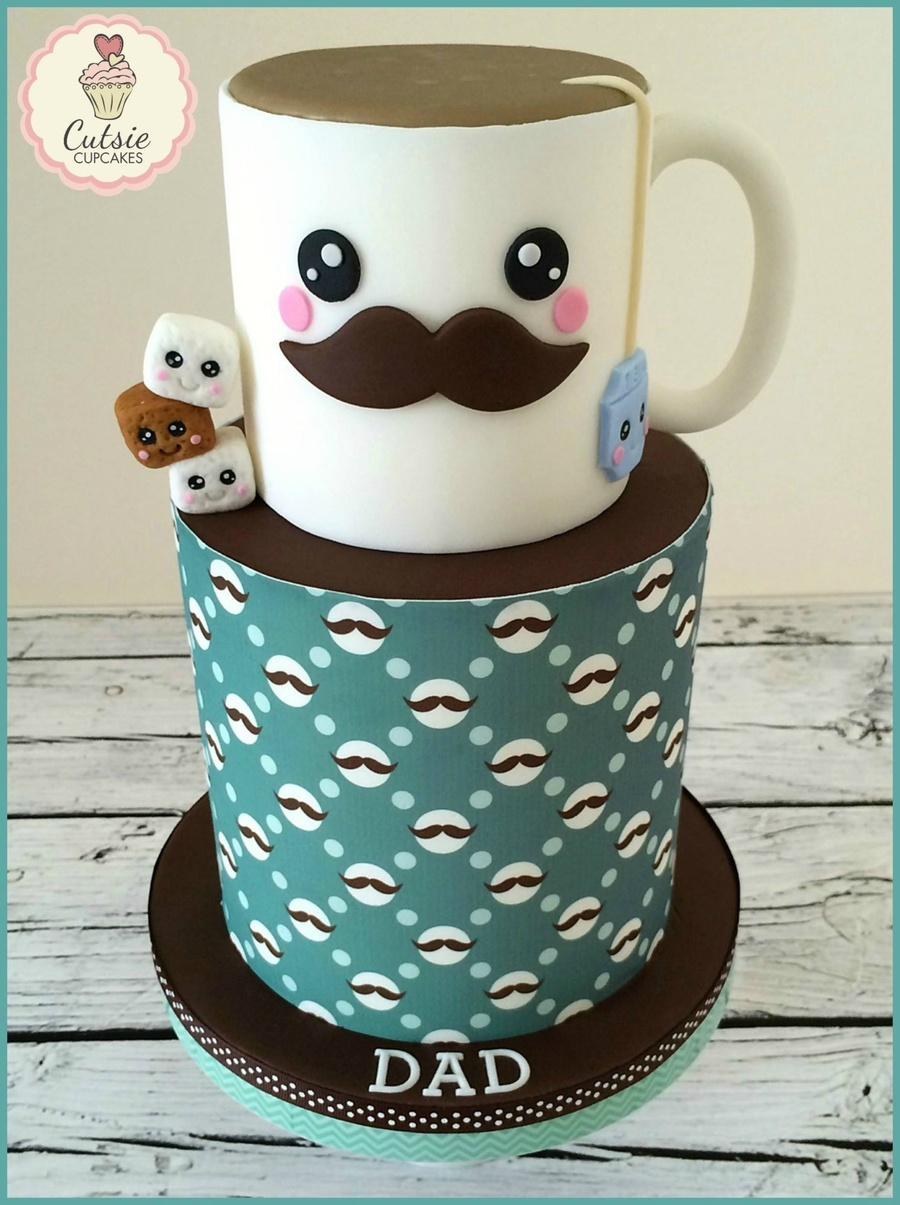 Father S Day Cake For Tea Lover Cakecentral Com