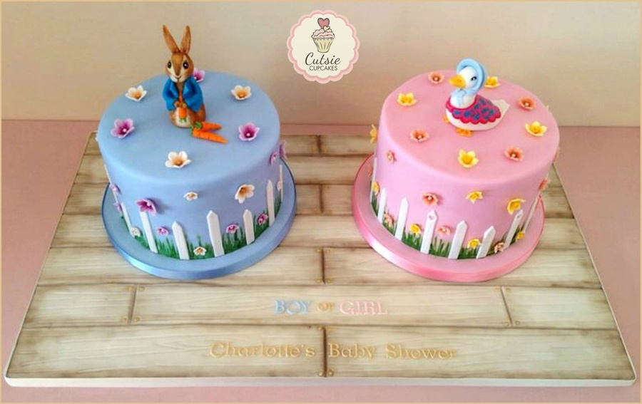 I Loved Making These Beatrix Potter Themed Baby Shower Cakes