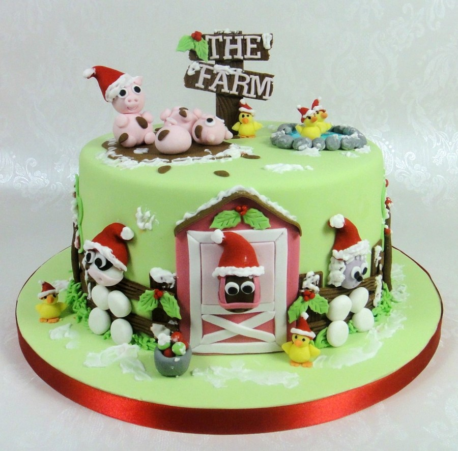 Christmas Farmyard Cake on Cake Central