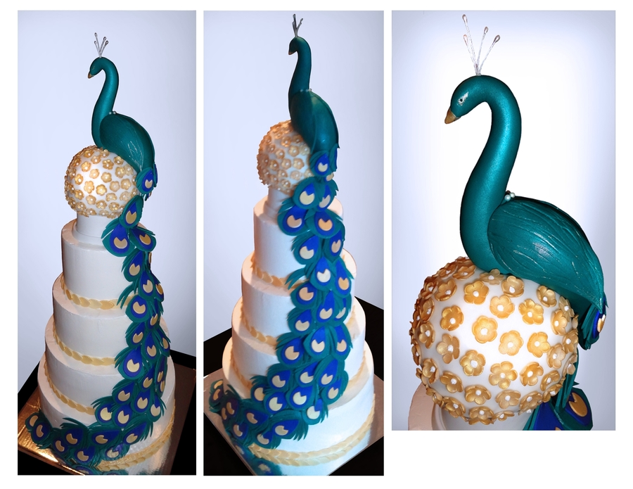 Peacock Wedding on Cake Central