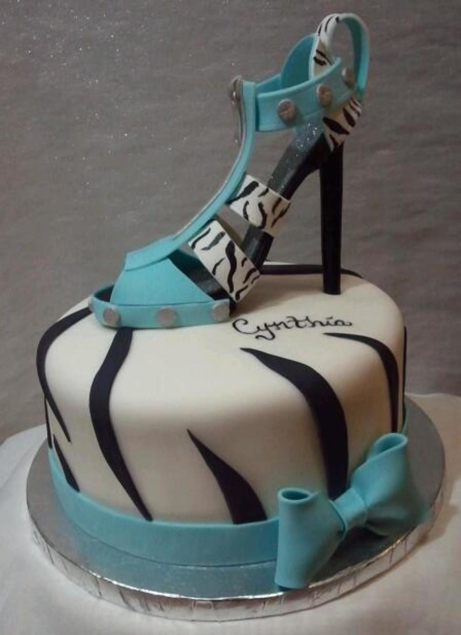 Zebra Print Shoe And Cake on Cake Central