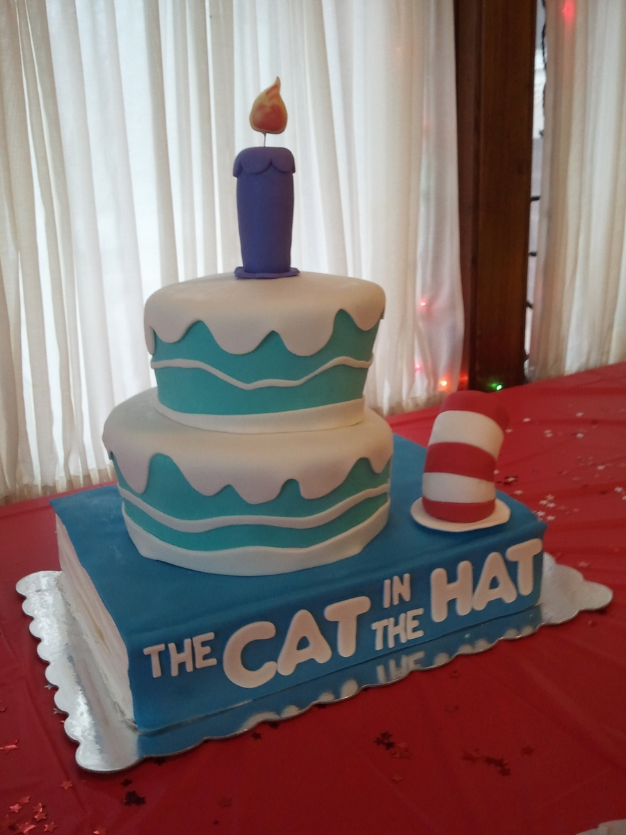 Dr. Seuss Cat In The Hat  on Cake Central