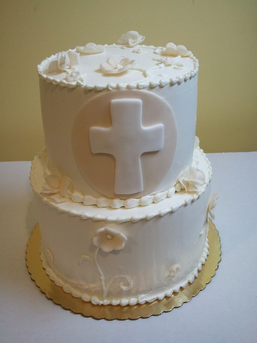 First Communion Tier Cake on Cake Central
