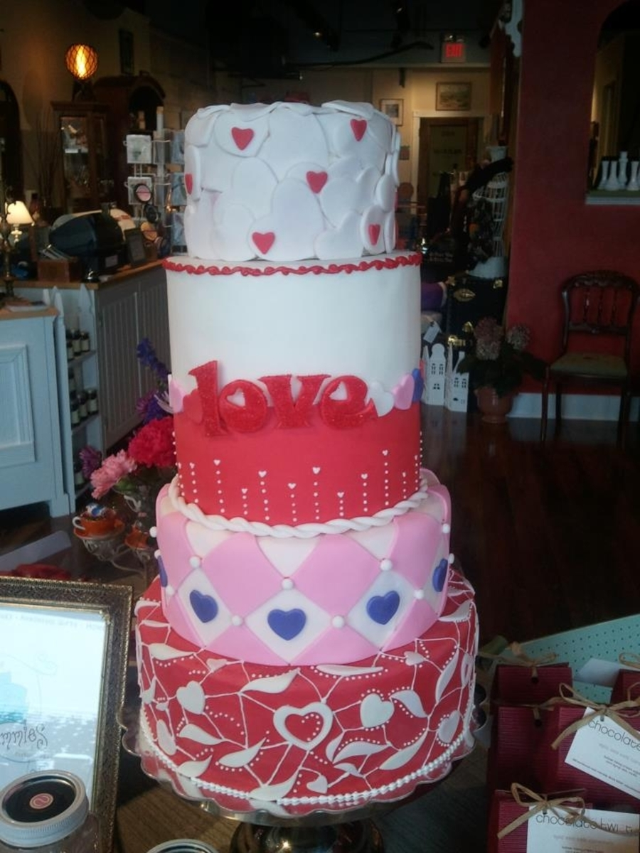 Valentine's Display Cake on Cake Central