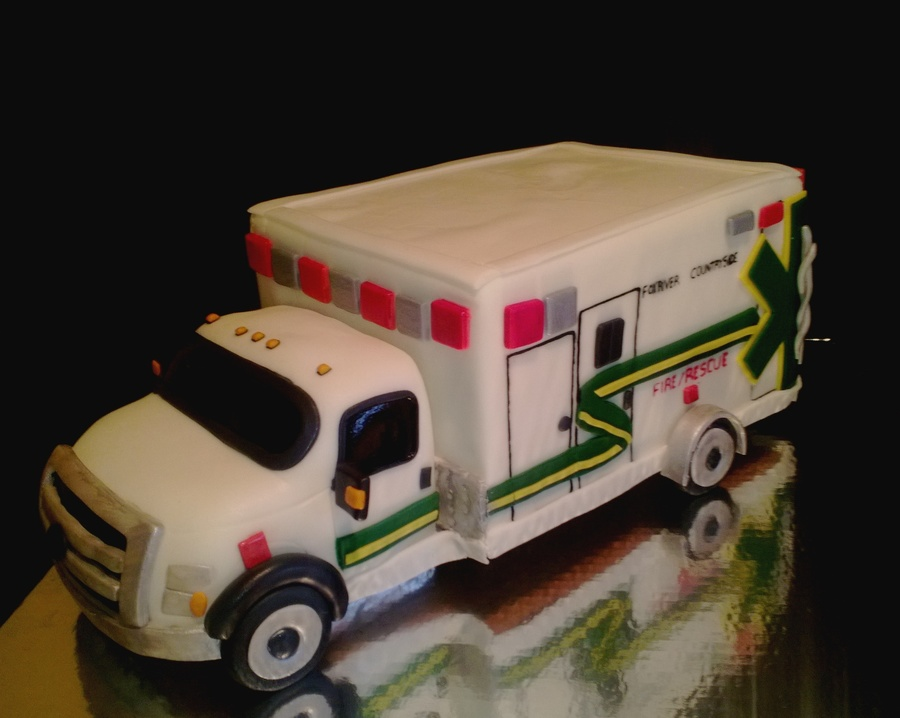 Ambulance Cake All Fondant Cakecentral Com