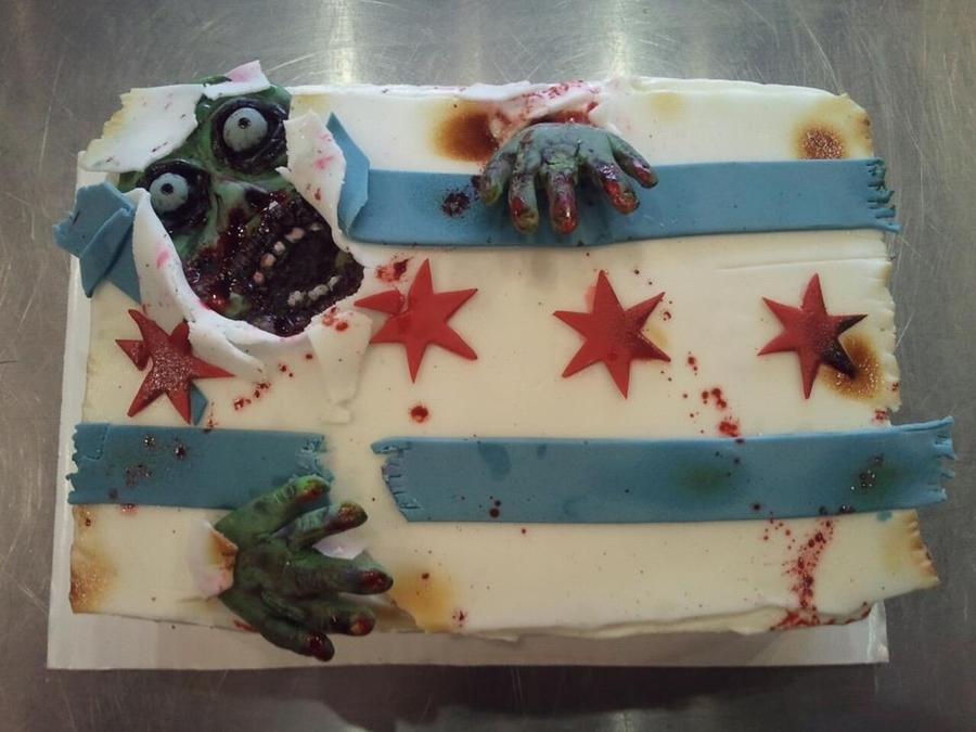 Chicago's Zombie on Cake Central
