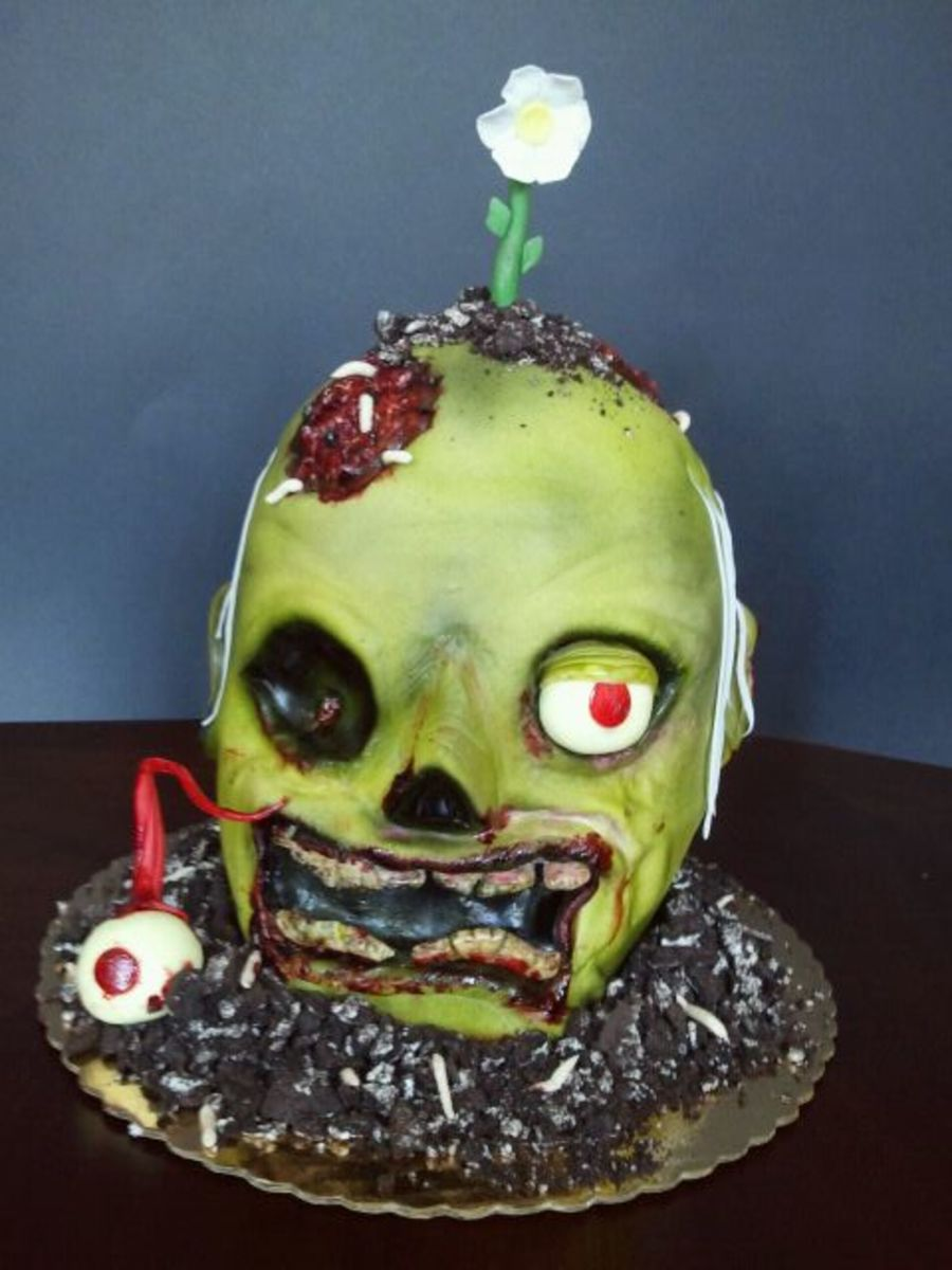 Zombie Head on Cake Central