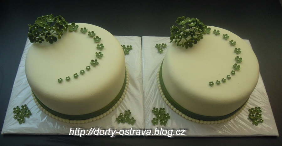 Two Small Wedding Cakes on Cake Central