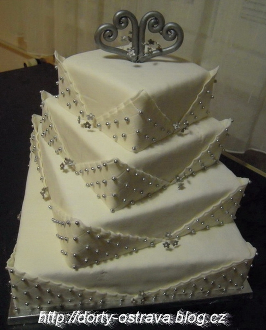 The Silver Wedding Cake on Cake Central
