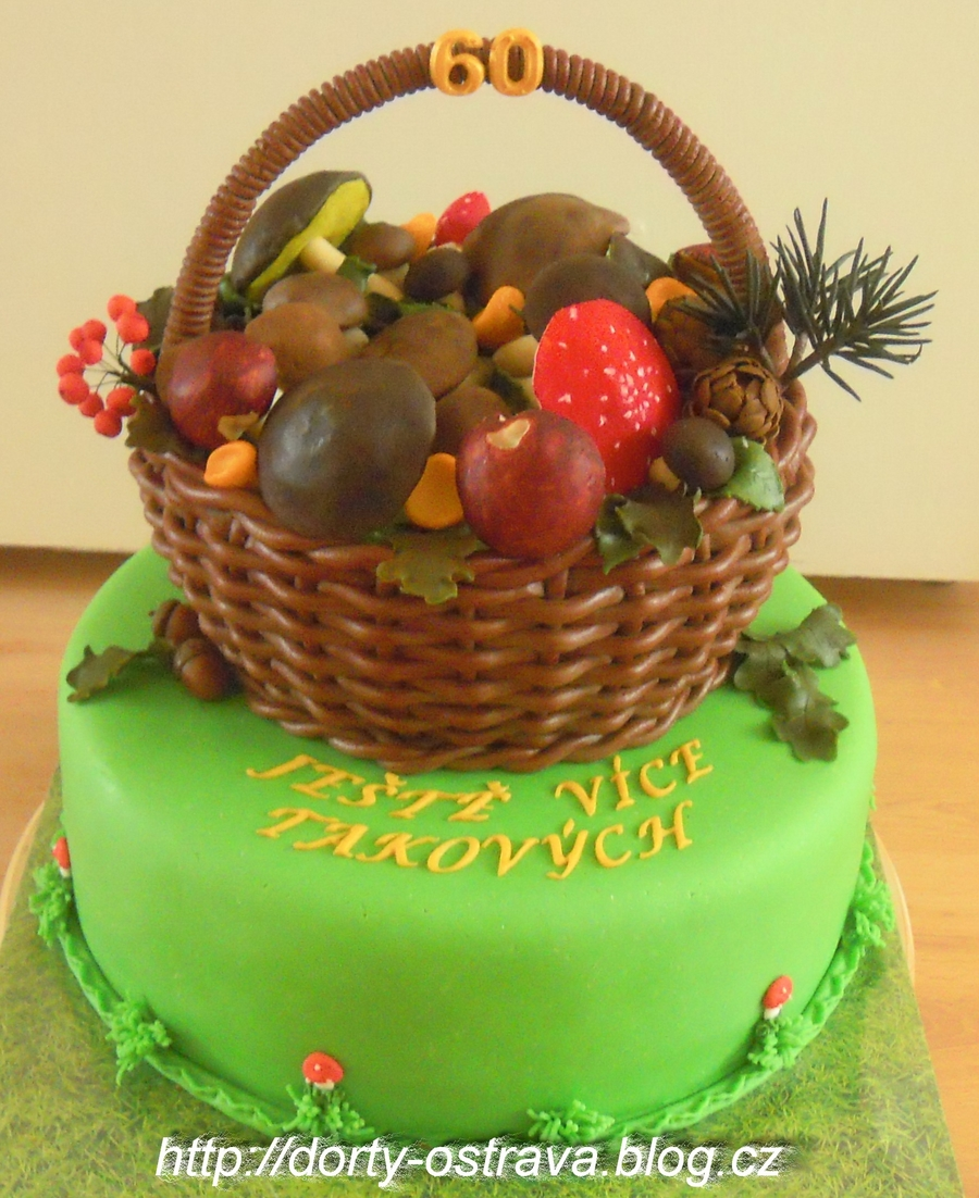 Basket Of Mushrooms on Cake Central