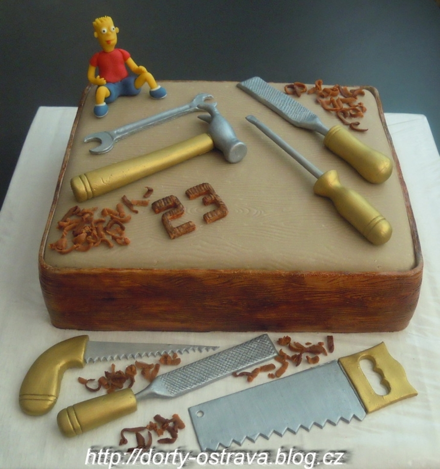 Tools And Bart Simpson  on Cake Central