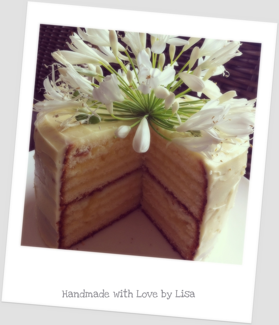 Layered Vanilla And Lemon Curd Cake on Cake Central