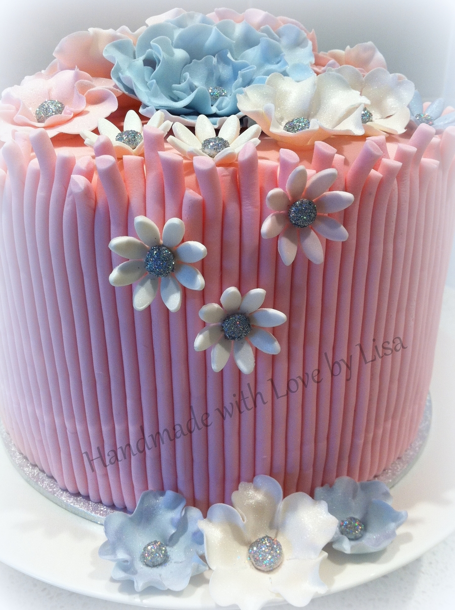 Pink And Purple Flowers To Celebrate An Occasion on Cake Central