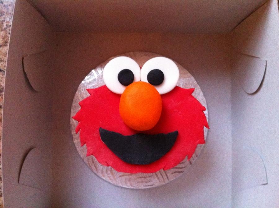 Elmo Cupcake Cake Tutorial
