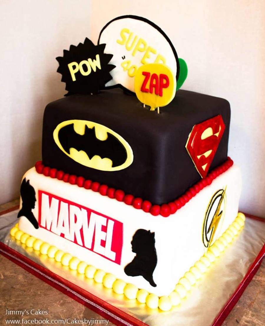 Dc Comics Marvel Superheroes Birthday Cake CakeCentralcom
