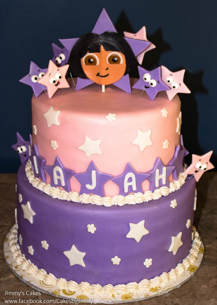 Dora Birthday Cake 3 Years Old Cakecentral Com