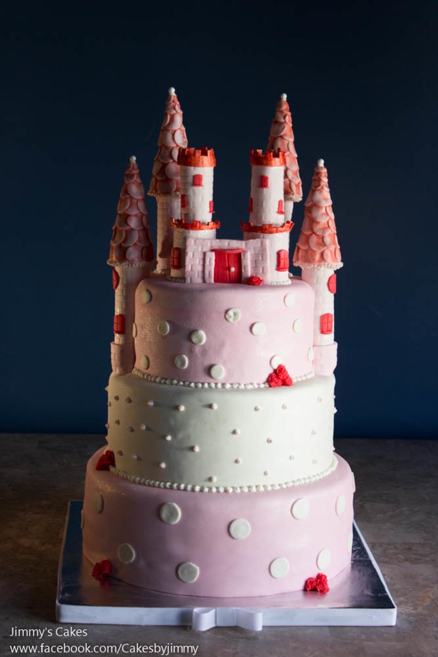 baby shower castle cake - cakecentral