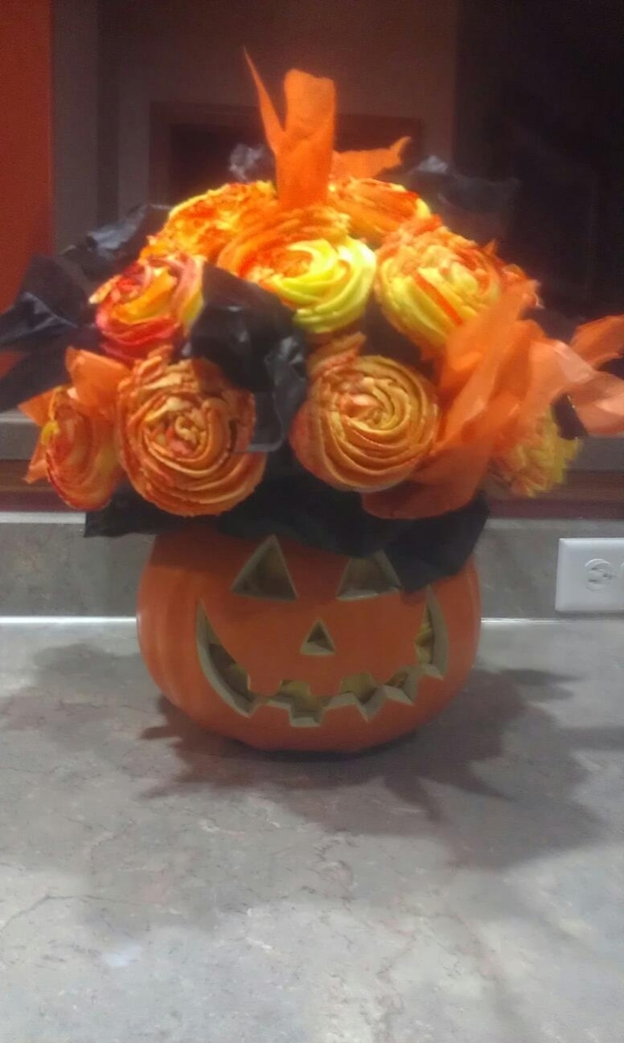 Halloween Cupcake Bouquet on Cake Central