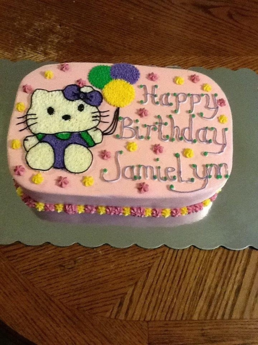 Hello Kitty All Buttercream  on Cake Central