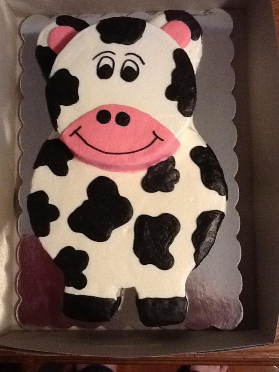 Cow Cakeall Buttercreamloved Doing This Cake  on Cake Central