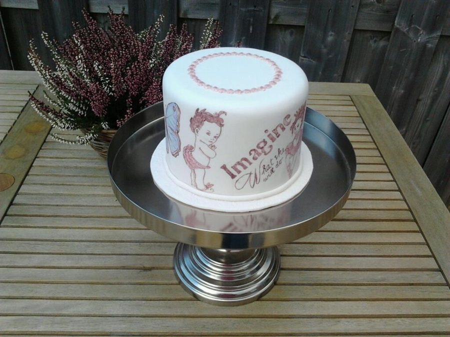 Vintage Painted Cake on Cake Central