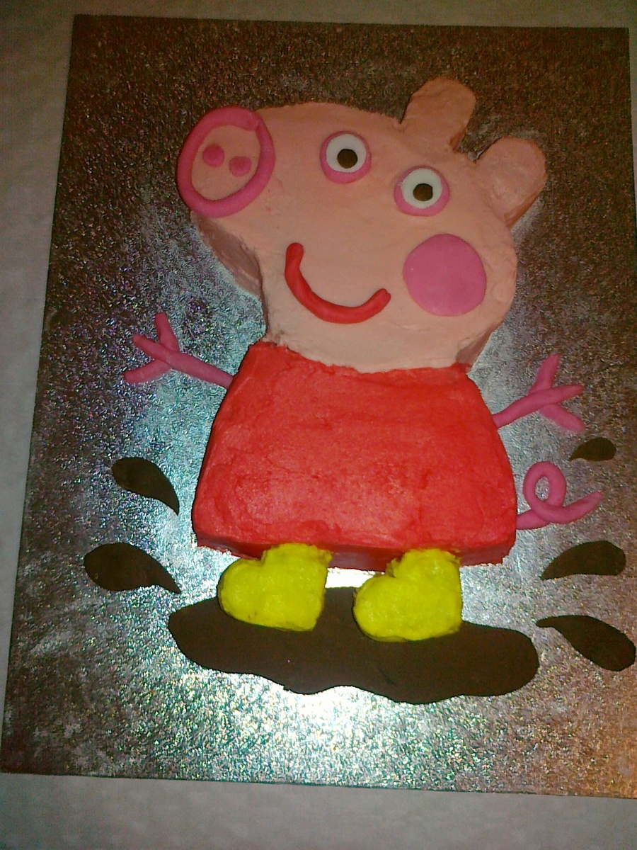 Peppa Pig Cake My First Carved Cake on Cake Central