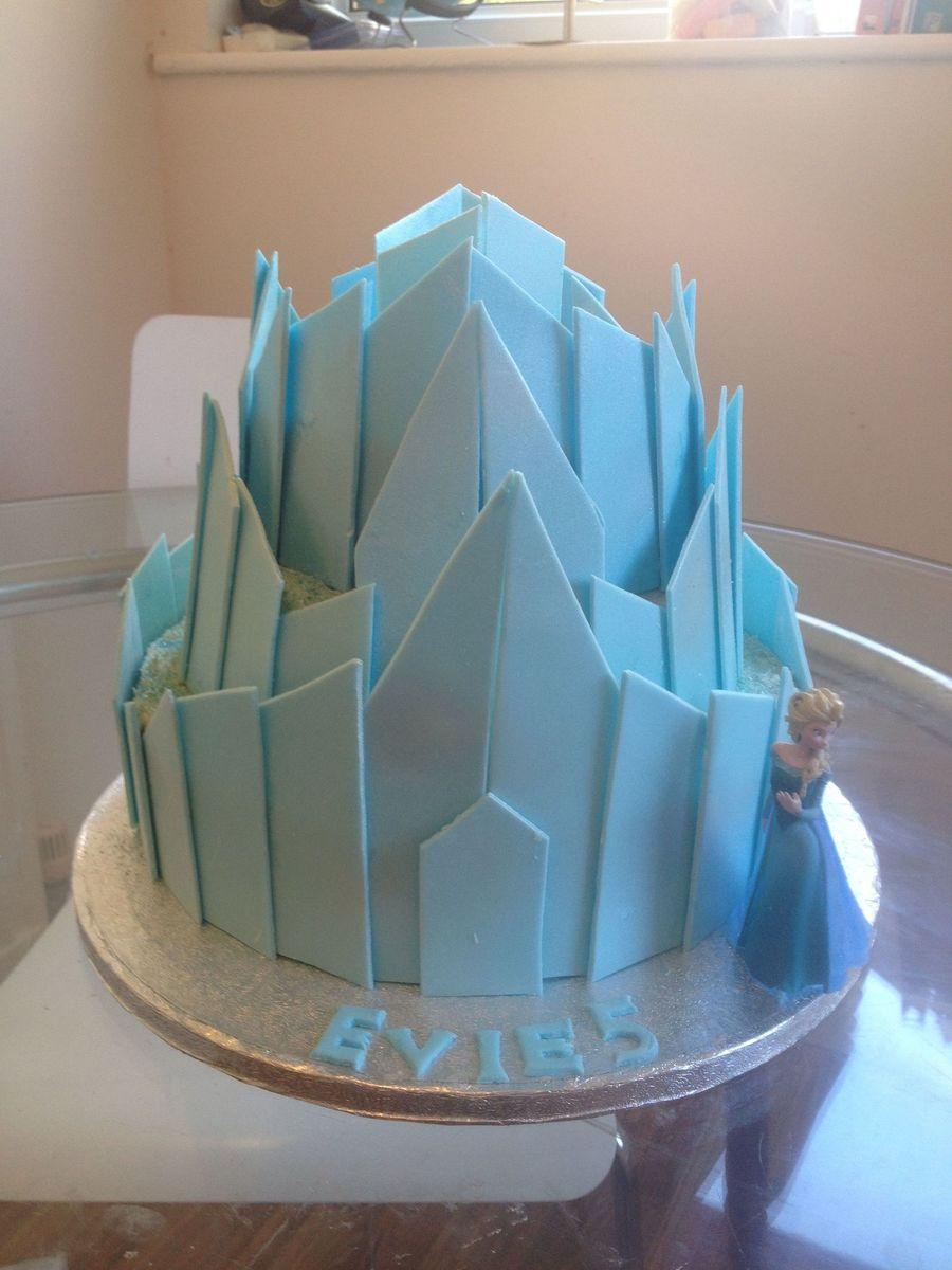 frozen - elsa's ice castle - cakecentral