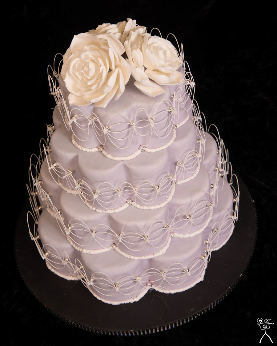 Petal Shaped Wedding Cakes