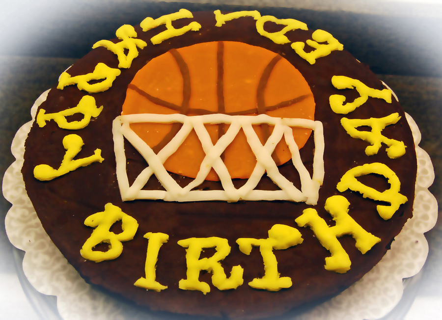 Basketball Design And Letters Are Made Of Modeling Chocolate on Cake Central