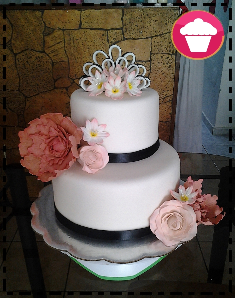 Flower Wedding Cake By Rosalies on Cake Central