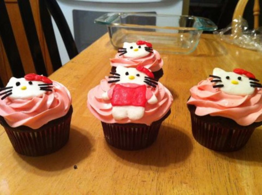Hello Kitty Cupcakes on Cake Central