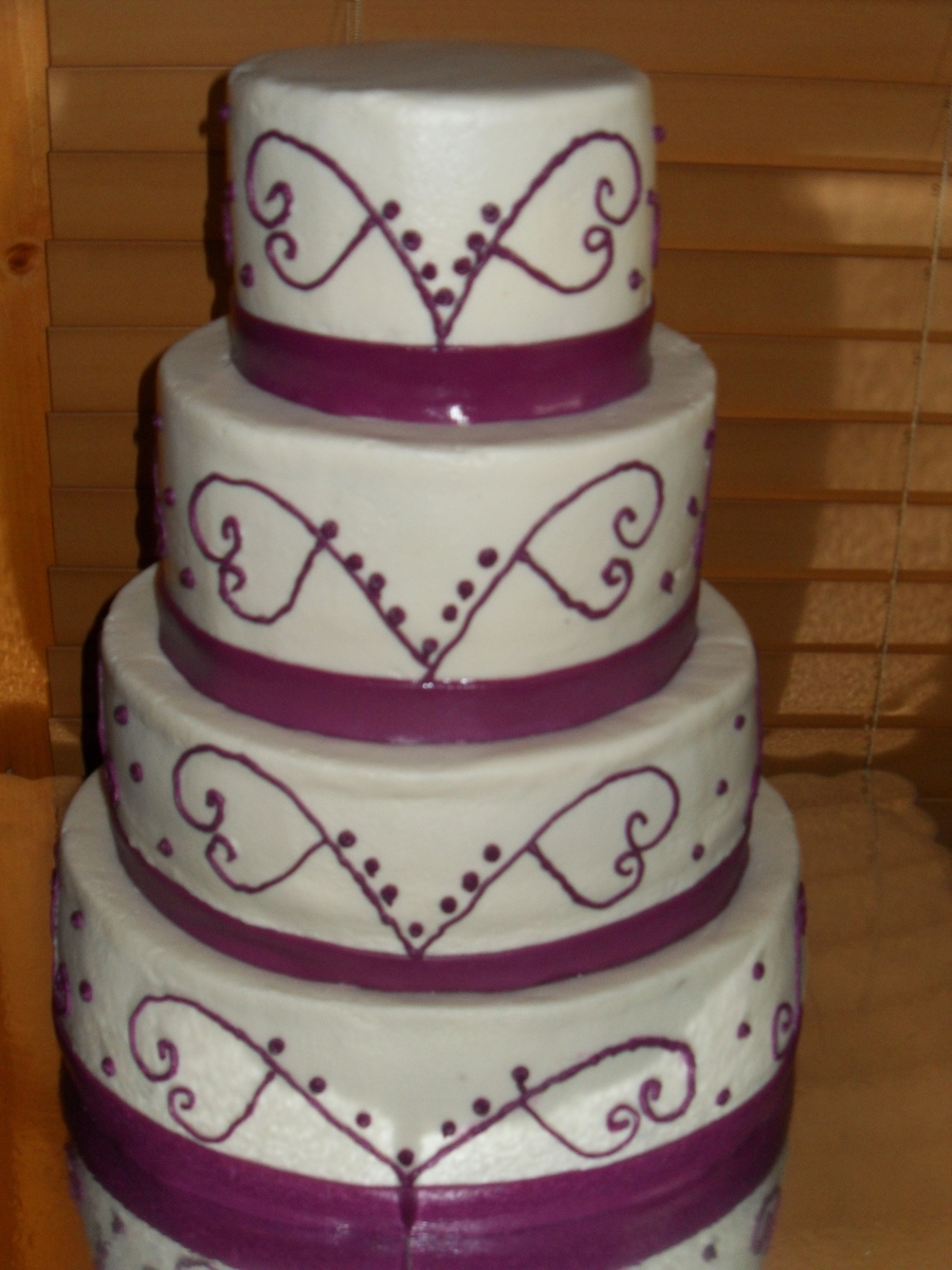 Round Buttercream Wedding Cake on Cake Central
