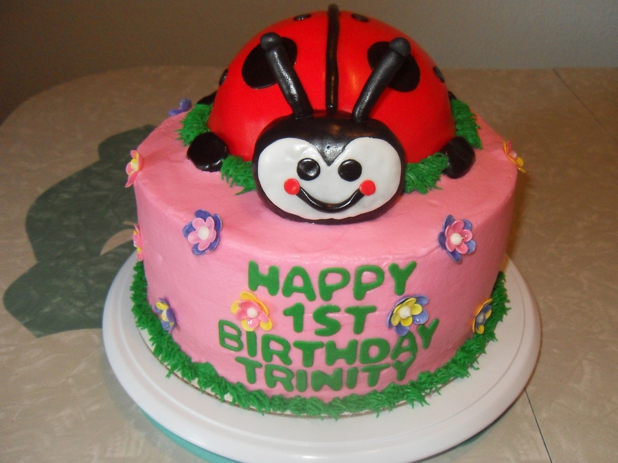 Ladybug Themed Cake  on Cake Central