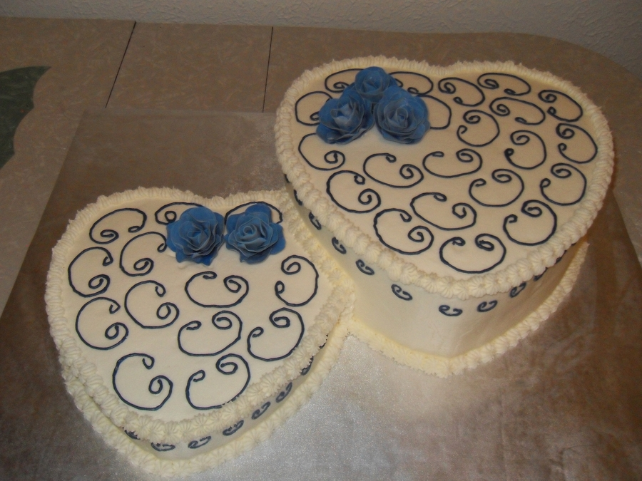 Heart Shaped Wedding Cake on Cake Central