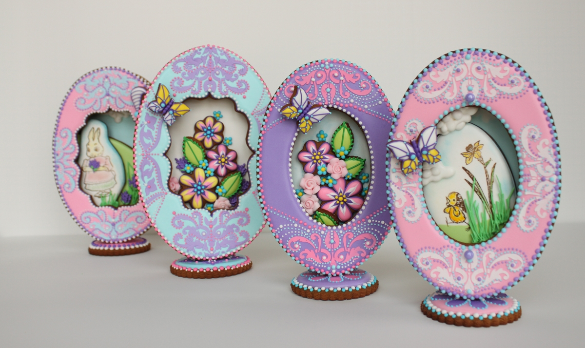 3-D Panorama Egg Cookies With Faberge Flair on Cake Central