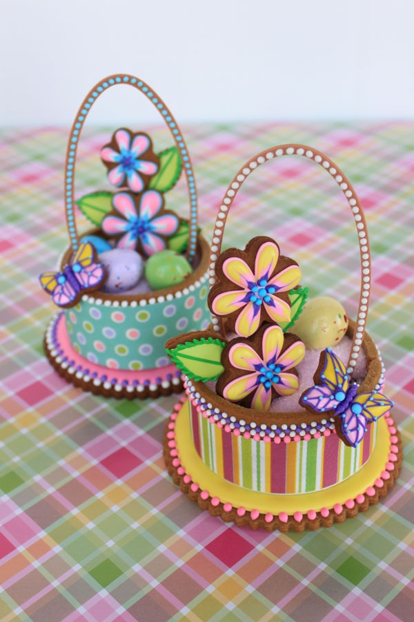 Contoured Cookie Easter Baskets on Cake Central