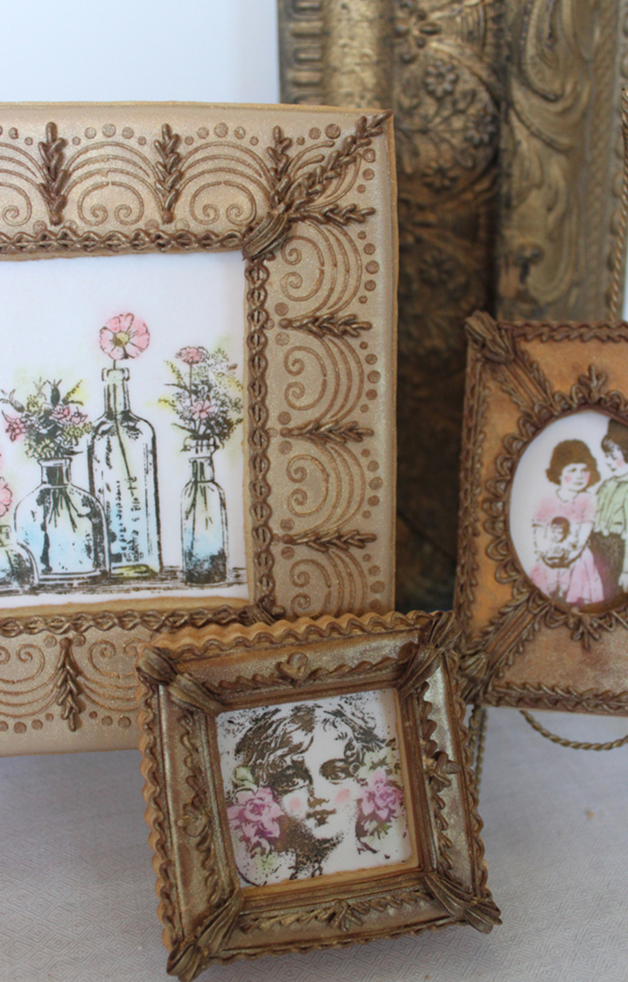 Vintage Framed Cookie Portraits on Cake Central